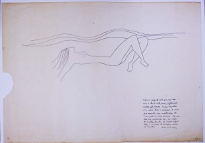 Oscar Niemeyer Drawing of a Woman